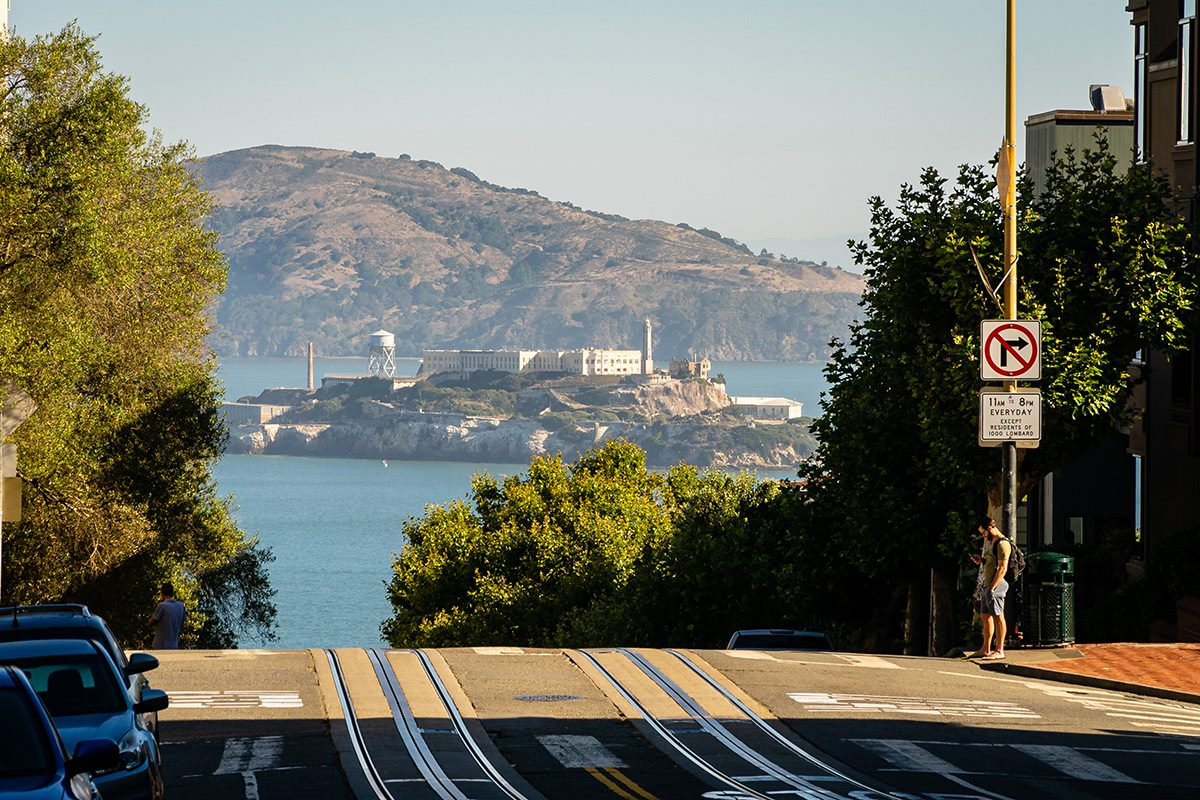 the view of alcatraz in san francsico